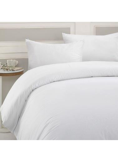 Marie Claire Otel Serisi-Tek Kişilik Nevresım Rome 100% Pamuk 160X220 Cm Beyaz Beyaz